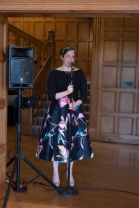 Wedding singer Lucy Harvey performs at intimate ceremony during COVID crisis
