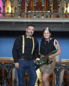 DJ Jay and Lucy Harvey as duo DJSax
